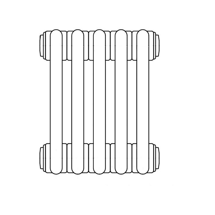 Irsap TESI 2, radiatore per sostituzione A, 5 elementi 56,5x22,5x6,5cm, bianco RT205650501IR07N01