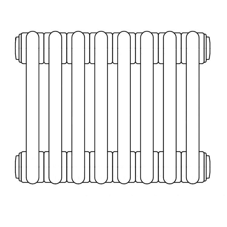 Irsap TESI 2, radiatore per sostituzione A, 8 elementi 56,5x36x6,5cm, bianco RT205650801IR02N01
