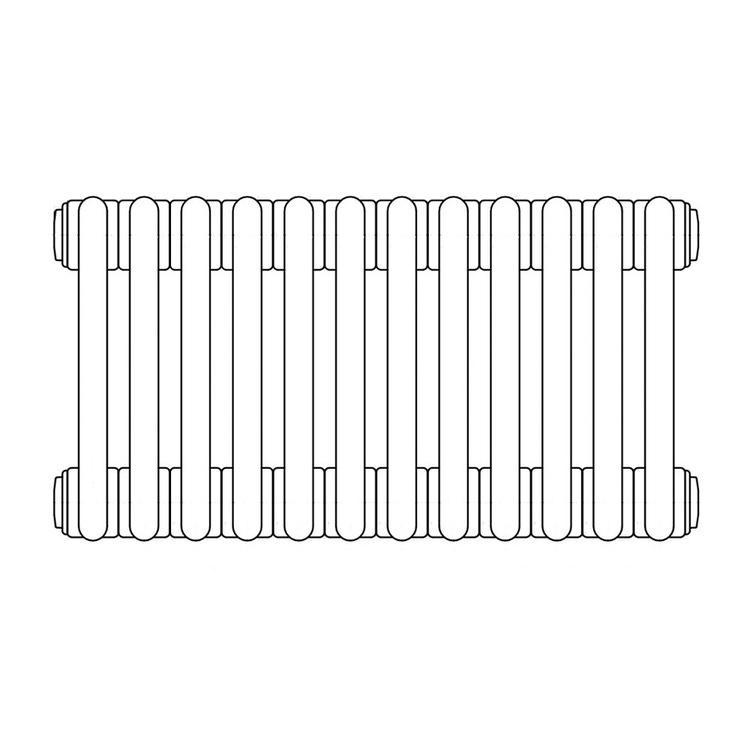 Irsap TESI 2, radiatore per sostituzione A, 12 elementi 56,5x54x6,5cm, bianco RT205651201IRNON01