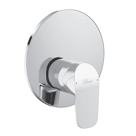 Immagine di Ceramica Dolomite BASE miscelatore monocomando ad incasso per doccia, non corredato di componenti doccia, cromo A6726AA