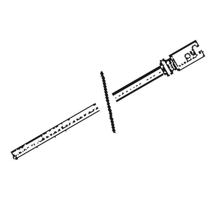 Immagine di Ridgid Asta rigida 3' (0,9 m), include: accoppiatori maschio R-1 e femmina R-2 60355