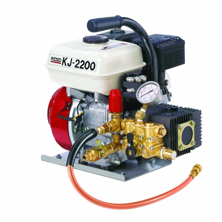 Immagine di Ridgid Stasatrice idropneumatica KJ-2200 ad azione pulsante, pressione effettiva 150 bar, completa di utensili e accessori,  63877