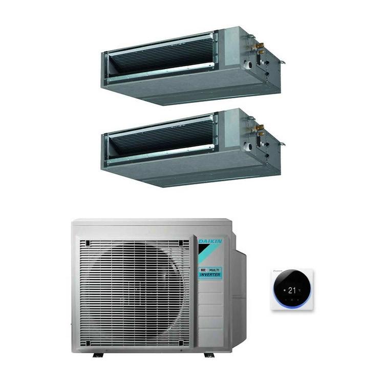Daikin FBA-A9 Canalizzabile media prevalenza R32 Climatizzatore dual split inverter   unità esterna 6.8 kW unità interne 12000+18000 BTU 3MXM68N+FBA35A9+FBA50A9
