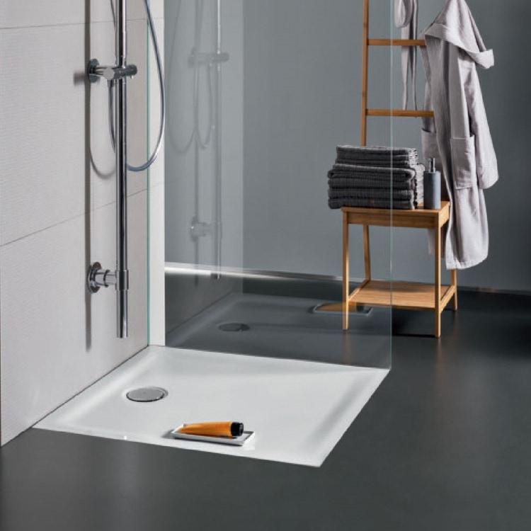 Pozzi Ginori 4.5 piatto doccia extra piatto 80x80 cm con foro per piletta da 90 mm finitura bianco 61011000