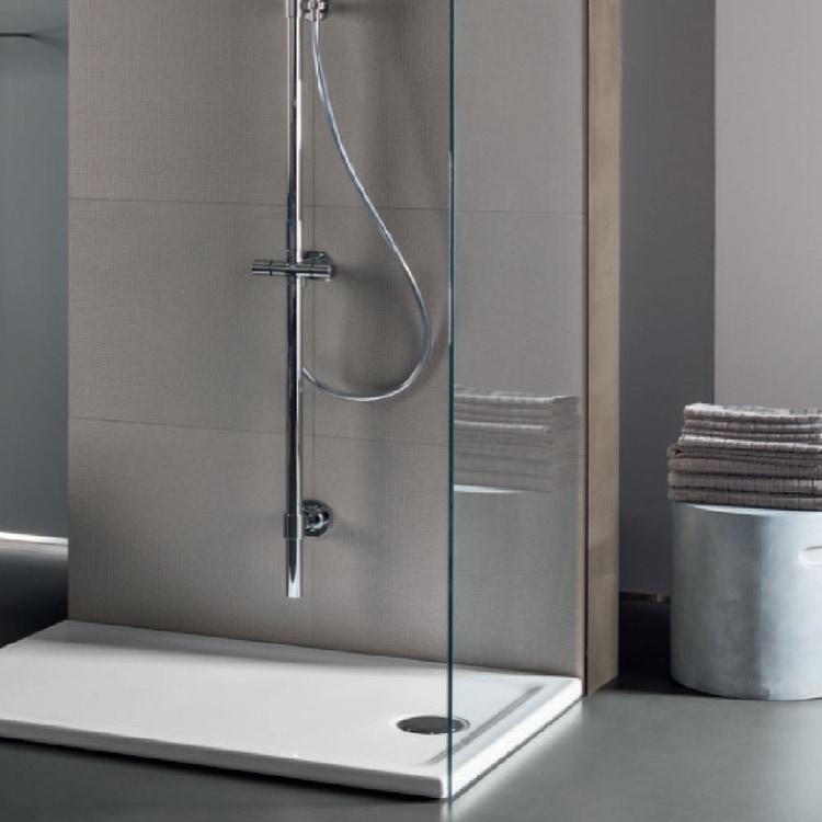 Pozzi Ginori 4.5 piatto doccia extrapiatto rettangolare 120x80 cm con foro per piletta da 90 mm  finitura bianco 61015000