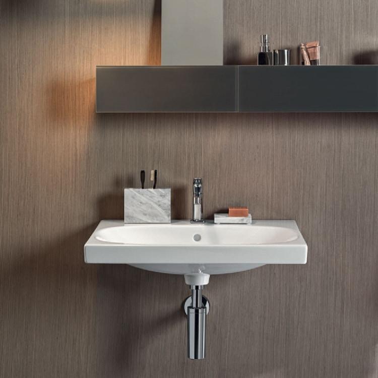 Pozzi Ginori ACANTO lavabo standard 75 cm larghezza finitura bianco 500.622.01.3