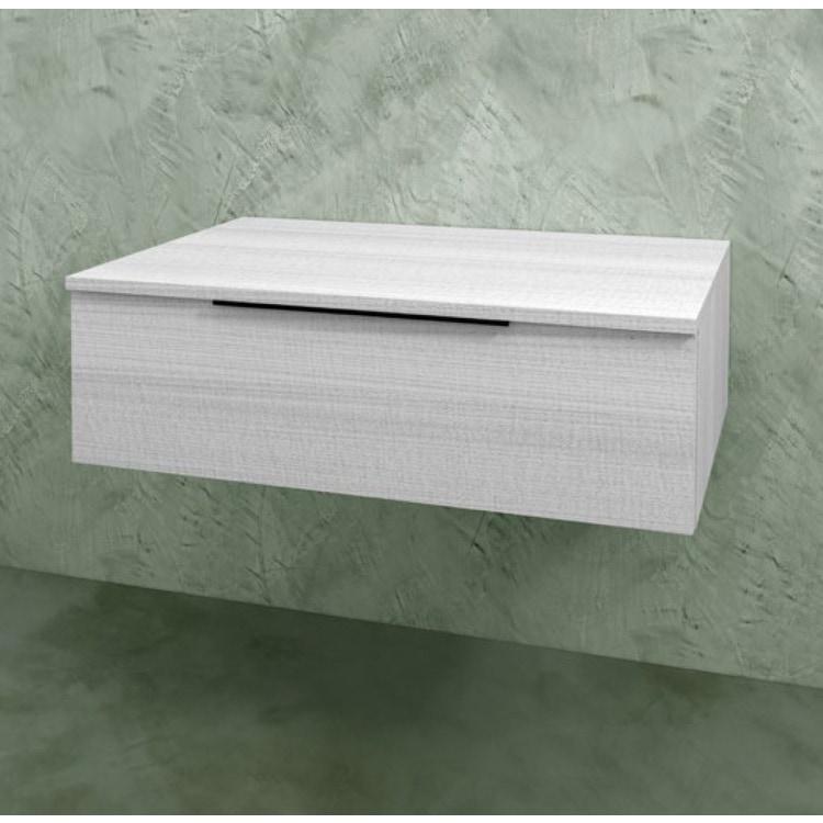 Flaminia BOX base sospesa, 1 cassetto, L.85 P.50 H.25 cm, con top, finitura oj bianco BX289+BXPR51OJB