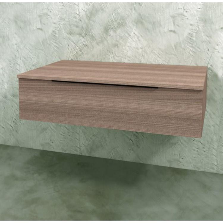 Flaminia BOX base sospesa, 1 cassetto, L.70 P.50 H.25 cm, con top, finitura oj canapa BXPR51OJC