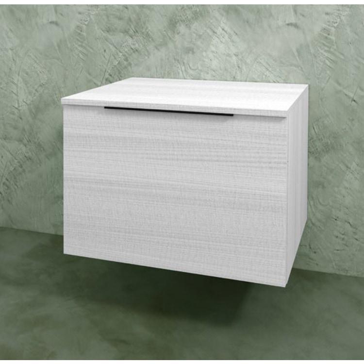Flaminia BOX base sospesa, 1 cassetto, L.70 P.50 H.50 cm, con top, finitura oj bianco BX423+BXPR51OJB