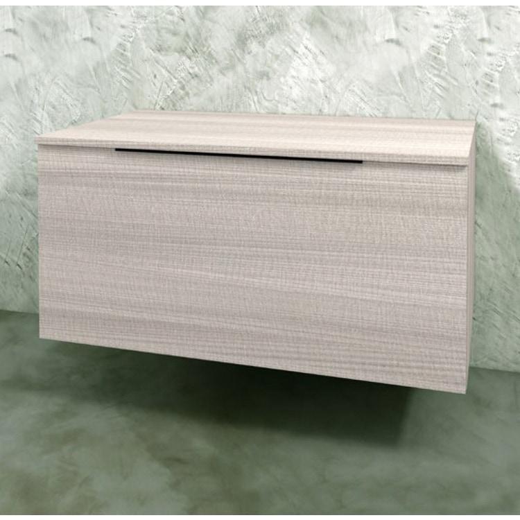 Flaminia BOX base sospesa, 1 cassetto, L.70 P.50 H.50 cm, con top, finitura oj grigio BX435+BXPR51OJG