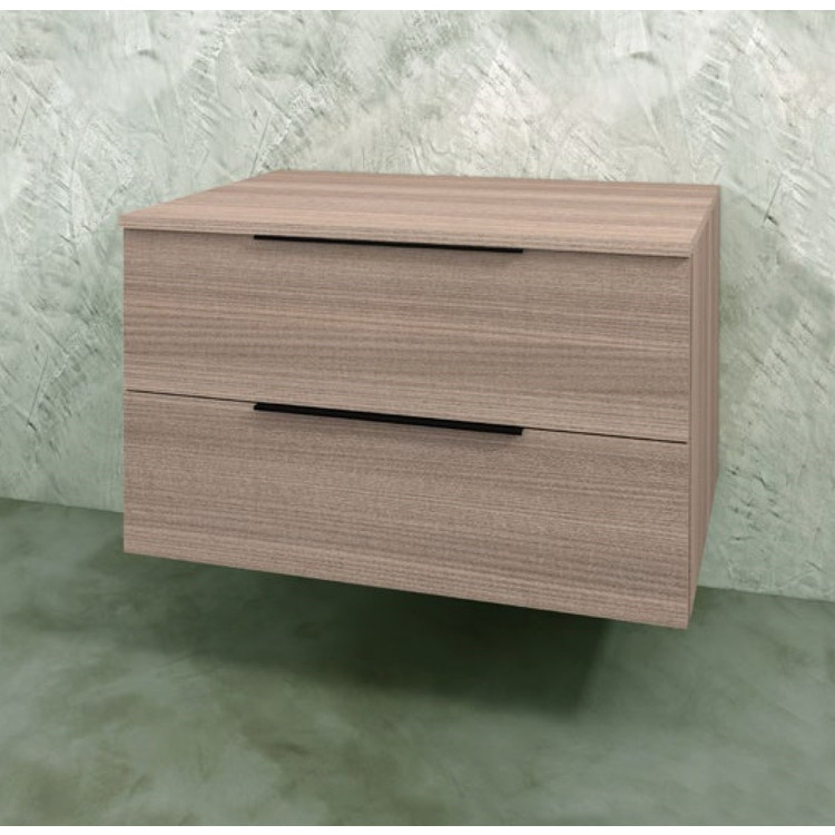 Flaminia BOX base sospesa, 2 cassetti, L.70 P.50 H.50 cm, con top, finitura oj canapa BX429+BXPR51OJC