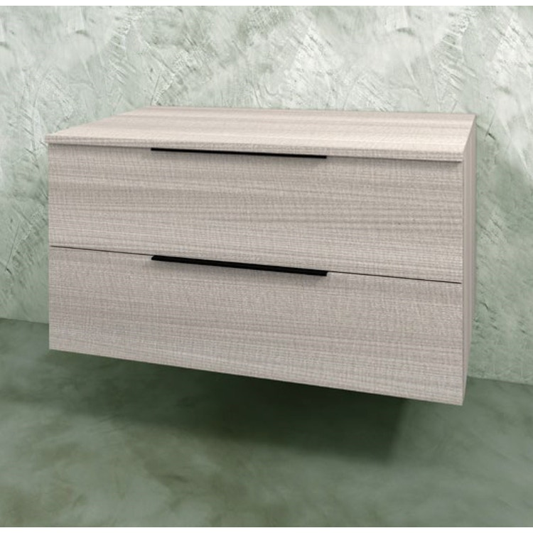 Flaminia BOX base sospesa, 2 cassetti, L.L70 P.50 H.50 cm, con top, finitura oj grigio BX433+BXPR51OJG