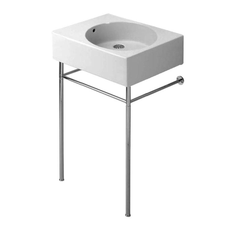 Duravit SCOLA sostegno metallico per lavabi universali 068460 e 068560, finitura cromo 0030591000