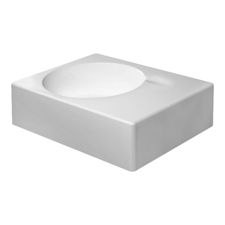 Duravit SCOLA lavabo universale monoforo, bacino a sinistra, con troppopieno, con bordo per rubinetteria, lato inferiore smaltato, colore bianco 0684600011