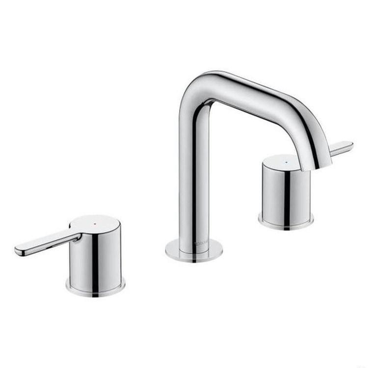 Duravit C.1 rubinetteria a 3 fori per lavabo, senza scarico e saltarello, bocca P.14 cm, finitura cromo C11060003010
