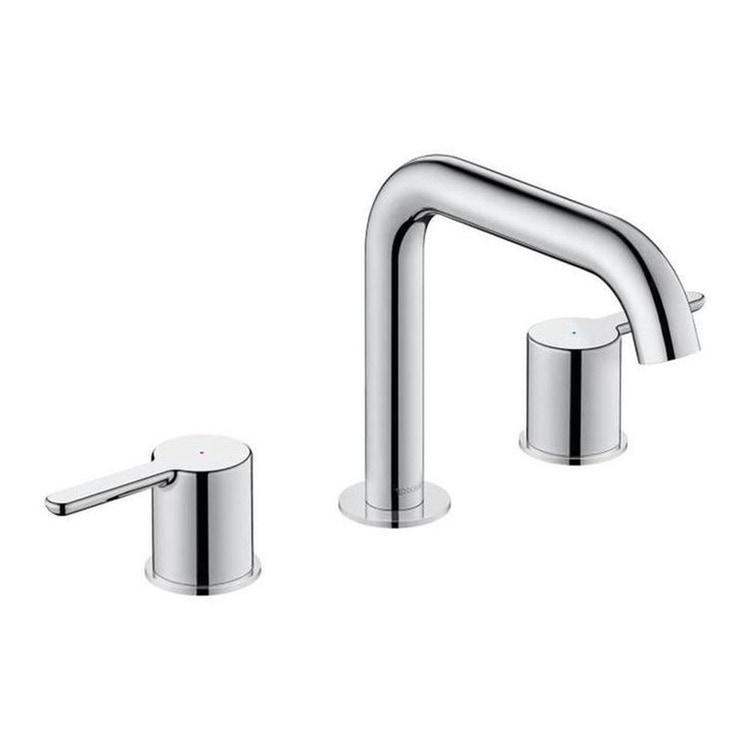 Duravit C.1 rubinetteria a 3 fori per lavabo, senza scarico e saltarello, bocca P.16 cm, finitura cromo C11060004010