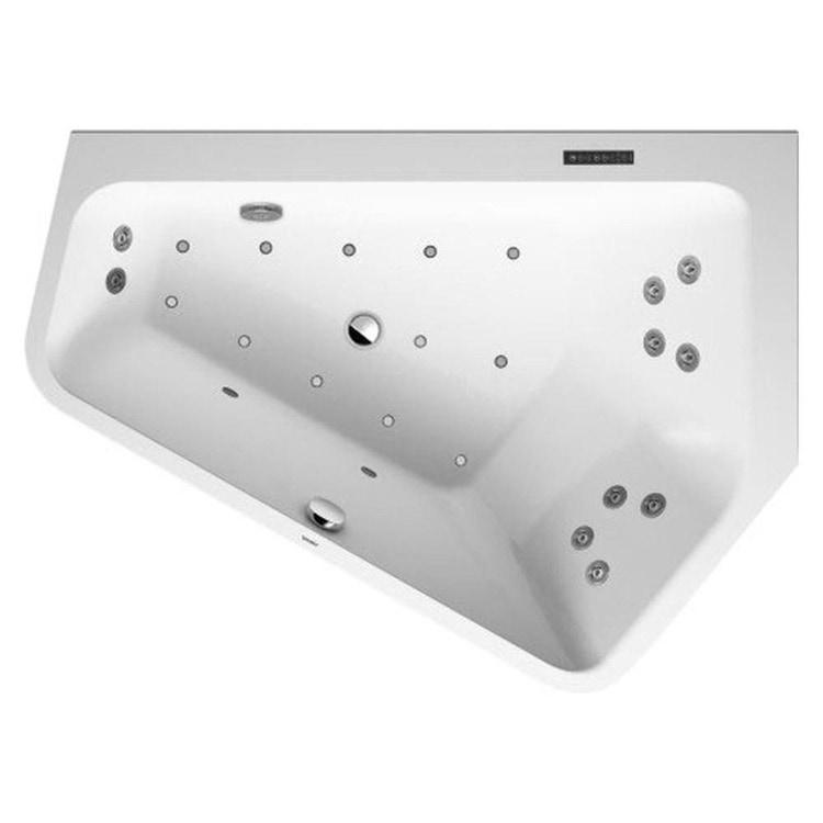 Duravit PAIOVA 5 vasca idromassaggio 177x130cm installazione ad angolo a dx con sistema combi L, colore bianco 760395000CL1000