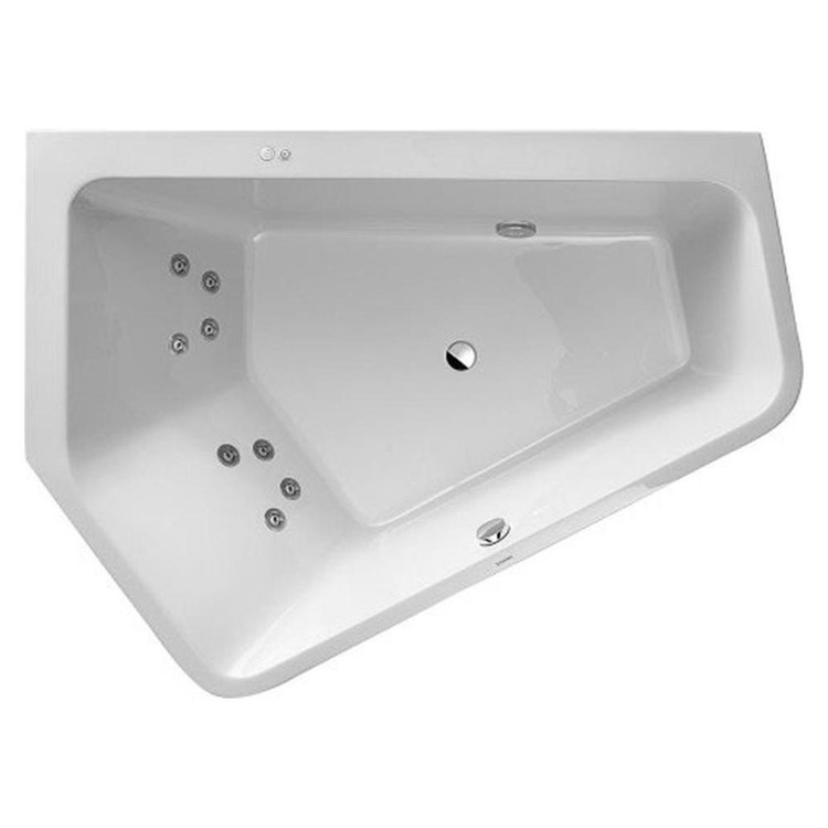 Duravit PAIOVA 5 vasca idromassaggio 190x140cm installazione ad angolo a sx con sistema a getto, colore bianco 760396000JS1000