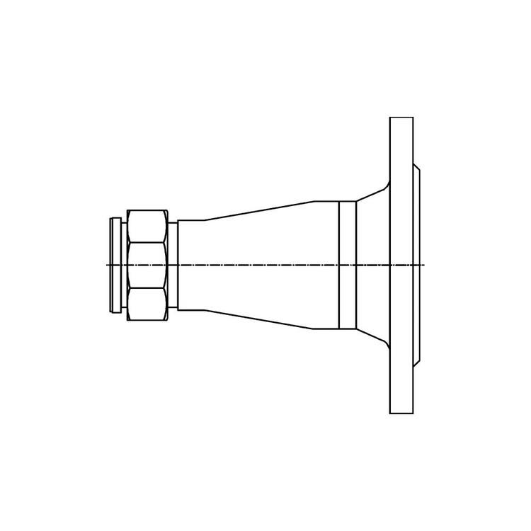 """Bosch Raccordo per circolatori, attacco impianto flangia DN50-PN16, attacco circolatore G1""""½ per caldaia da 150 kW 7736602758"""