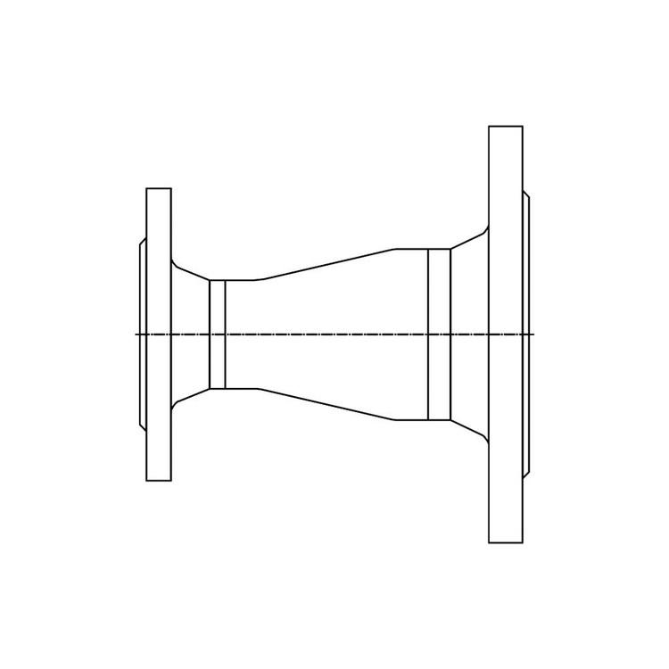 Bosch Raccordo per circolatori, attacco impianto flangia DN65-PN16, attacco circolatore DN40-PN6 per caldaia da 200, 250 e 300 kW 7736602764