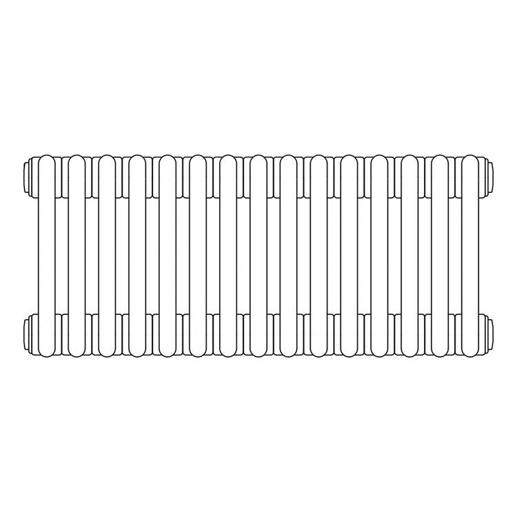 Irsap TESI 3 radiatore per sostituzione L, 15 elementi H.79,5 L.67,5 P.10,1cm, colore grigio quarzo finitura lucido RT307951531IRNON