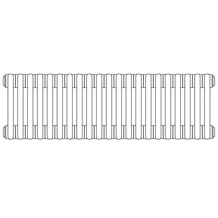 Irsap TESI 3 radiatore per sostituzione L, 21 elementi H.79,5 L.94,5 P.10,1cm, colore bianco finitura opaco RT3079521J8IRNON