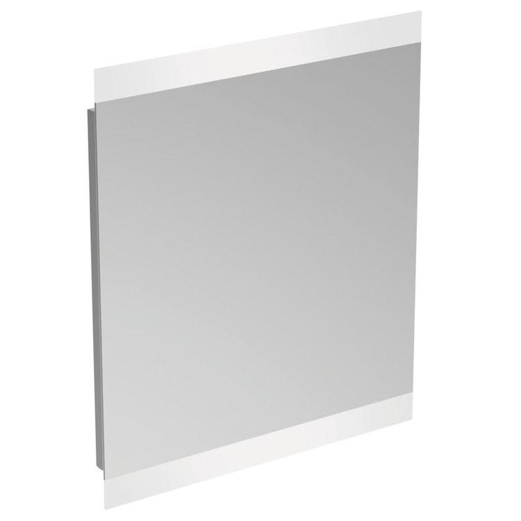 Ideal Standard specchio 80x70x2.6 cm con luce a LED integrata superiore ed inferiore, finitura a specchio T3347BH