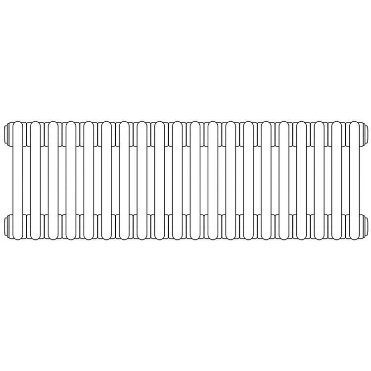 Irsap TESI 4 radiatore per sostituzione L, 20 elementi H.79,5L.90 P.13,9cm, colore grigio quarzo finitura lucido RT407952031IRNON