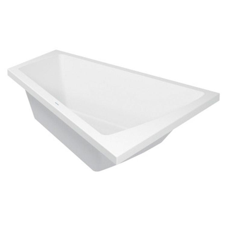 Duravit PAIOVA vasca da bagno a incasso L.180 P.140 cm, installazione ad angolo sx, colore bianco 700216000000000