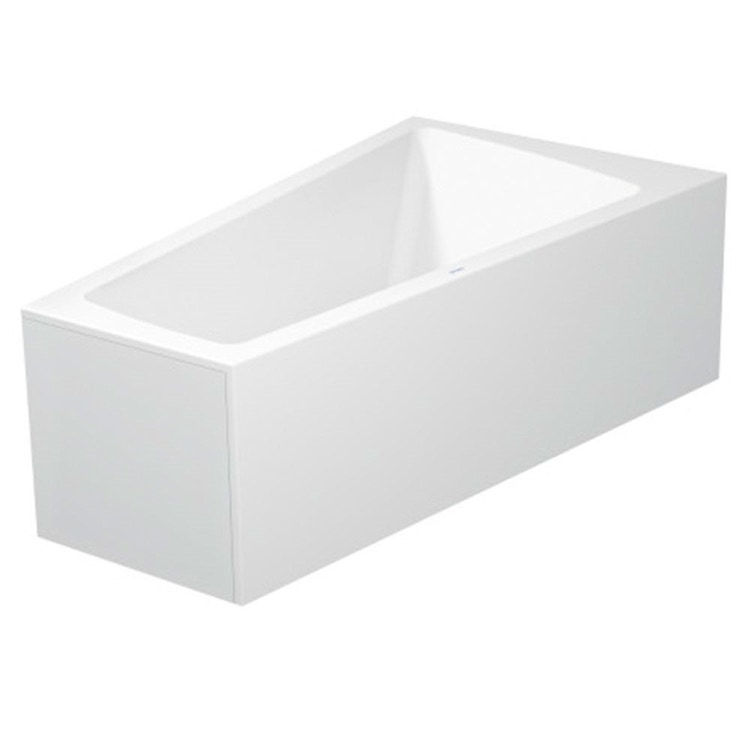 Duravit PAIOVA vasca da bagno L.170 P.100 cm con pannello frontale integrato, installazione ad angolo dx, colore bianco 700265000000000