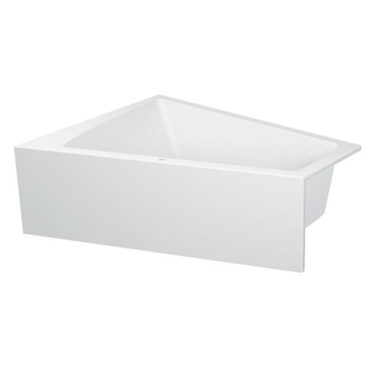 Duravit PAIOVA vasca da bagno L.170 P.130 cm con pannello frontale integrato, installazione ad angolo sx, colore bianco 700266000000000