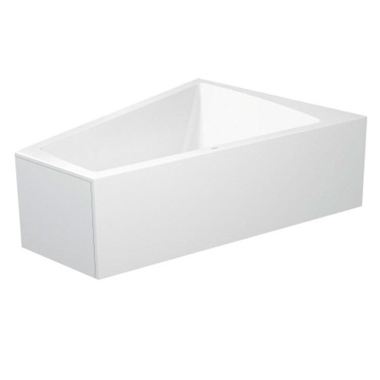 Duravit PAIOVA vasca da bagno L.170 P.130 cm con pannello frontale integrato, installazione ad angolo dx, colore bianco 700267000000000