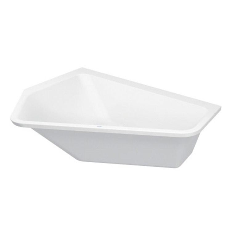 Duravit PAIOVA 5 vasca a incasso L.177 P.130 cm, installazione ad angolo integrata a sx, colore bianco 700390000000000