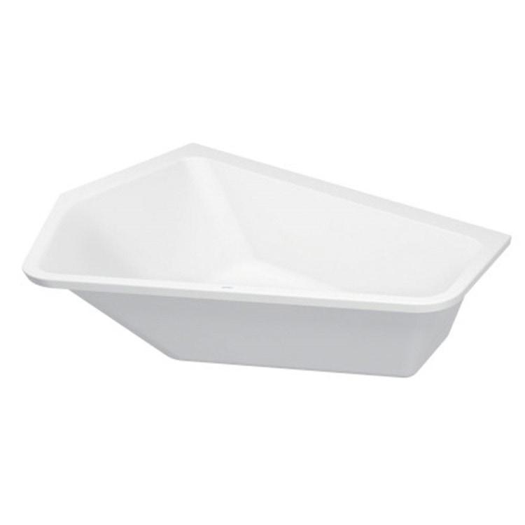 Duravit PAIOVA 5 vasca a incasso L.190 P.140 cm, installazione ad angolo integrata a sx, colore bianco 700392000000000