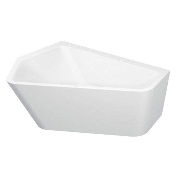 Duravit PAIOVA 5 vasca L.177 P.130 cm, con pannello integrato e installazione angolare a sx, colore bianco 700394000000000
