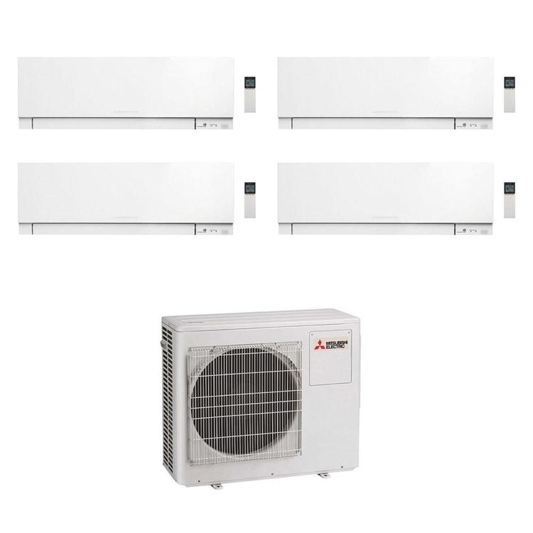 Mitsubishi MSZ-EF Kirigamine Zen R32 Climatizzatore a parete quadri split inverter Wi-Fi bianco | unità esterna 7.2 kW unità interne 5000+5000+5000+5000 BTU MXZ-4F72VF+MSZ-EF[18|18|18|18]VGKW
