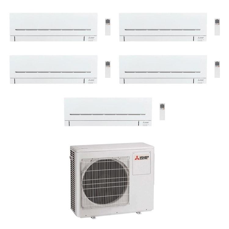 Mitsubishi MSZ-AP R32 Climatizzatore a parete penta split inverter Wi-Fi bianco | unità esterna 10.2 kW unità interne 5000+5000+5000+5000+5000 BTU MXZ-5F102VF+MSZ-AP[15|15|15|15|15]VG