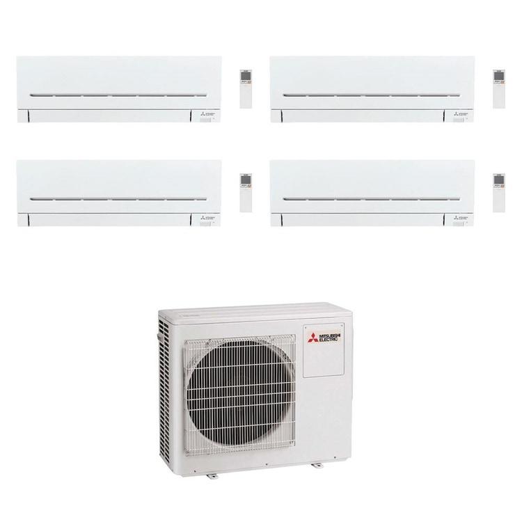 Mitsubishi MSZ-AP R32 Climatizzatore a parete quadri split inverter Wi-Fi bianco | unità esterna 8 kW unità interne 5000+5000+5000+5000 BTU MXZ-4F80VF2+MSZ-AP[15|15|15|15]VG