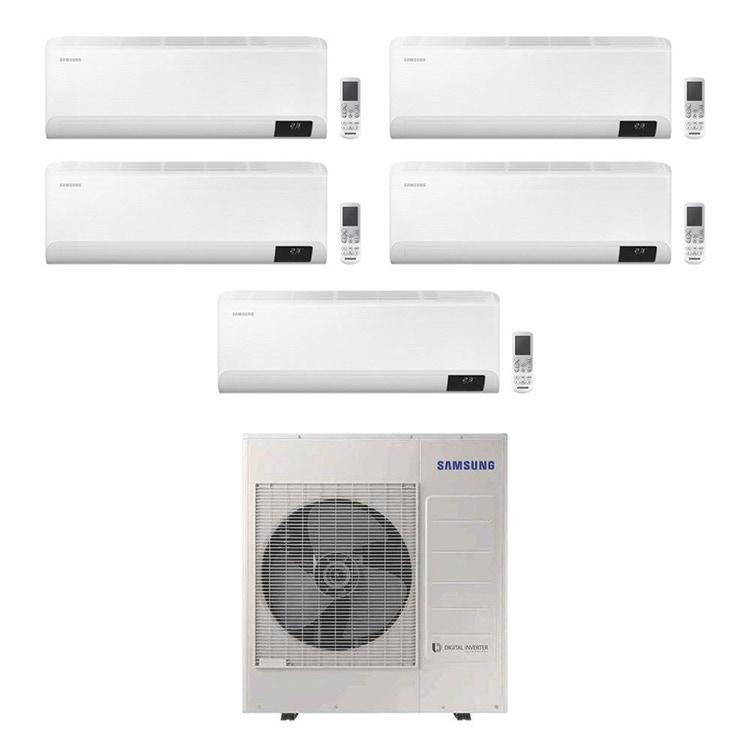 Samsung CEBU Wi-Fi R32 Climatizzatore a parete penta split inverter Wi-Fi bianco | unità esterna 10 kW unità interne 7000+9000+9000+12000+24000 BTU AJ100TXJ5KG/EU+AR[20|25|25|35|71]TXFYAWKNEU