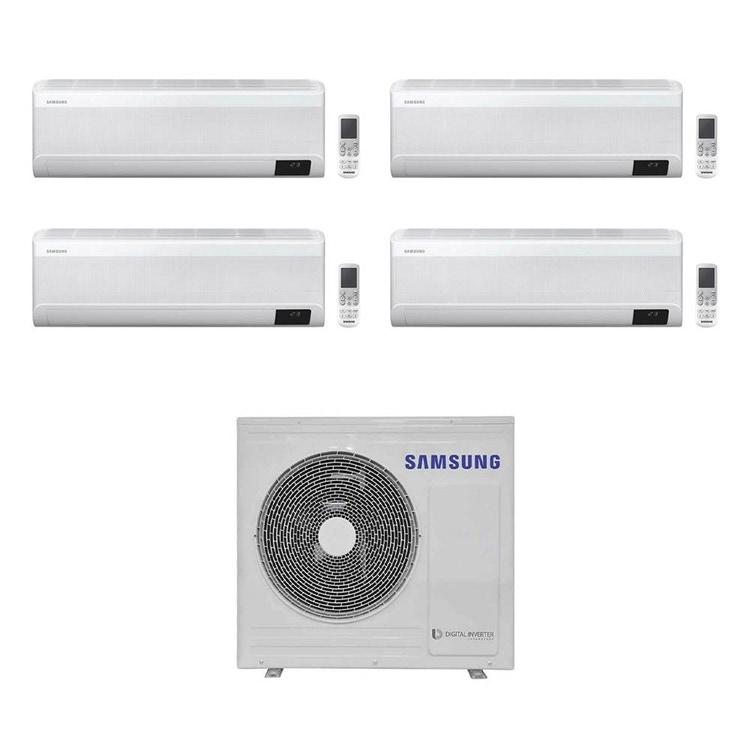Samsung WINDFREE AVANT R32 Climatizzatore a parete quadri split inverter Wi-Fi bianco | unità esterna 8 kW unità interne 7000+7000+7000+7000 BTU AJ080TXJ4KG/EU+AR[20|20|20|20]TXEAAWKNEU