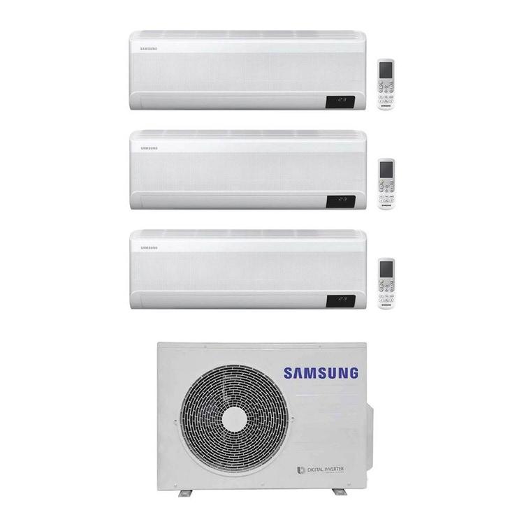 Samsung WINDFREE AVANT R32 Climatizzatore a parete trial split inverter Wi-Fi bianco   unità esterna 5.2 kW unità interne 7000+7000+7000 BTU AJ052TXJ3KG/EU+AR[20 20 20]TXEAAWKNEU