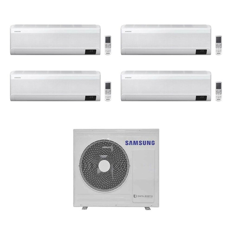 Samsung WINDFREE ELITE R32 Climatizzatore a parete quadri split inverter Wi-Fi bianco | unità esterna 8 kW unità interne 7000+7000+12000+12000 BTU AJ080TXJ4KG/EU+AR[20|20|35|35]TXCAAWKNEU