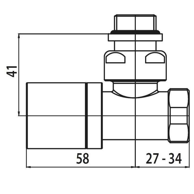 Irsap Kit valvola manuale e detentore a squadro, con pre regolazione, termostatizzabile, attacco  rame/multistrato 1/2', colore quartz 1 finitura ruvido Cod.1C VALKITSQUCU1C