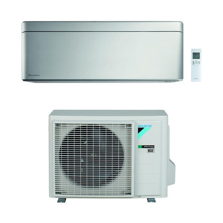 Daikin STYLISH R32 Climatizzatore a parete monosplit inverter Wi-Fi, silver | unità esterna 2.5 kW unità interna 9000 BTU SB.FTXA25BS/RXA
