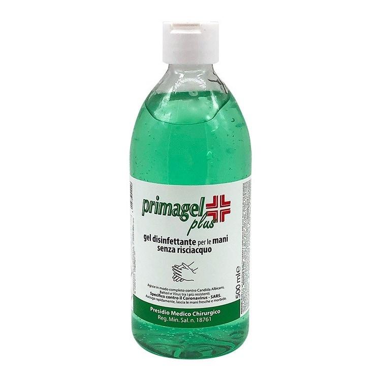 Immagine di Ultimi pezzi PRIMAGEL PLUS gel disinfettante mani a base alcolica senza risciacquo flacone 500 ml (1 pezzo) PGP-500