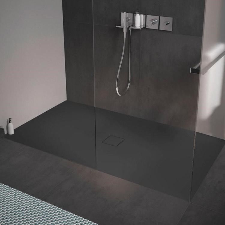 Kaldewei CONOFLAT piatto doccia 100x150 cm con SECURE PLUS, colore nero lava finitura opaco 467300012717