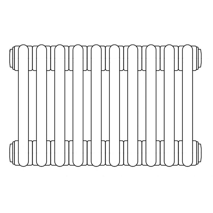 Irsap TESI 6 radiatore 10 elementi H.100 L.45 P.21,5 cm, bianco standard RT610001001IRNON02