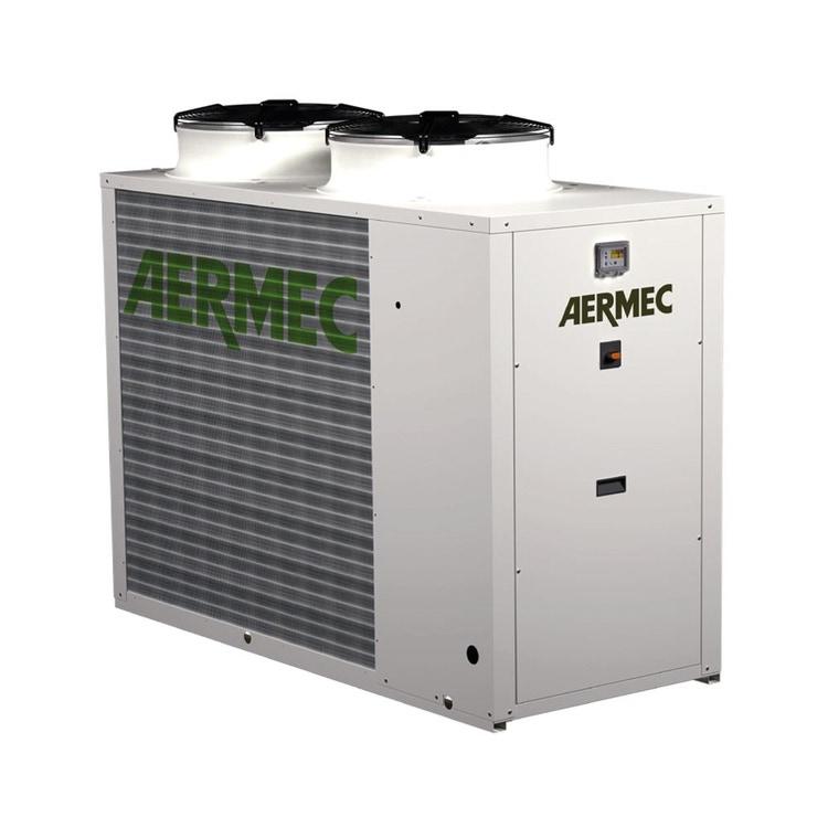 Aermec NRK Pompa di calore reversibile condensata ad aria trifase da esterno con kit idronico integrato NRK0100°H°°°°°03