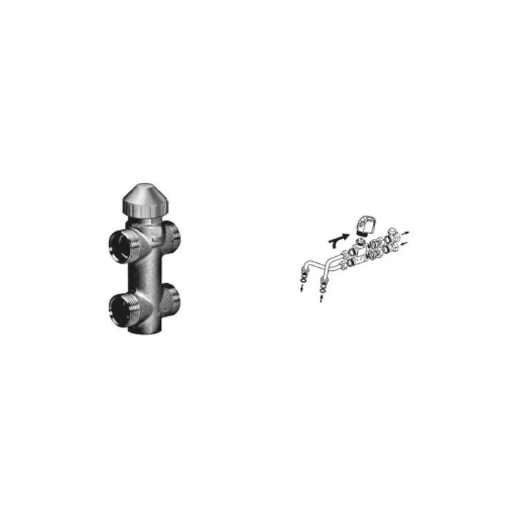 Sabiana Valvola a 3 vie ON-OFF con detentore a regolazione micrometrica + kit collegamento non montata (modello 04-14-24-26-34-36) 9079502W