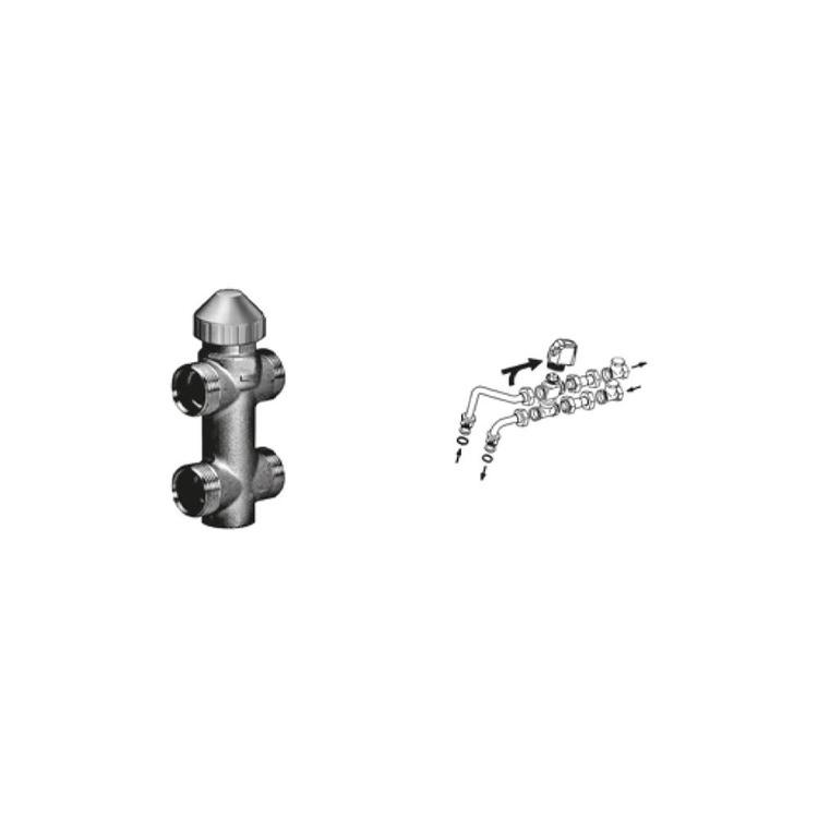 Sabiana Valvola a 3 vie ON-OFF con detentore a regolazione micrometrica + kit collegamento non montata (modello 44-54-56-64-66) 9079503W